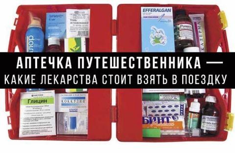 Аптечка путешественника — какие лекарства взять в поездку?