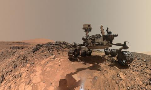 На Марсе нашли руины храма с крестом (фото)