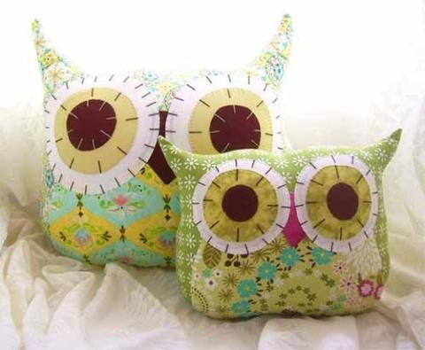 подушки совы