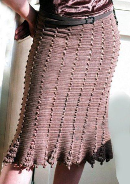Женственная юбка крючком