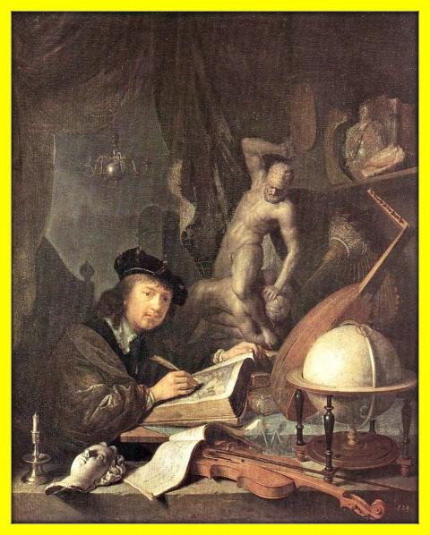 Художник в своей мастерской.1647г.