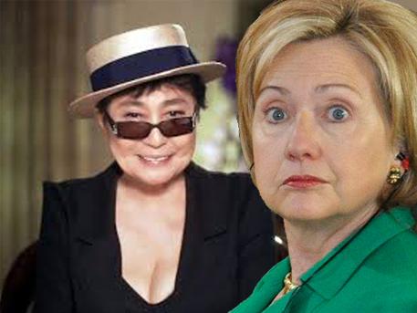 Сенсационное признание Йоко Оно может лишить Хилари Клинтон шансов на президентское кресло