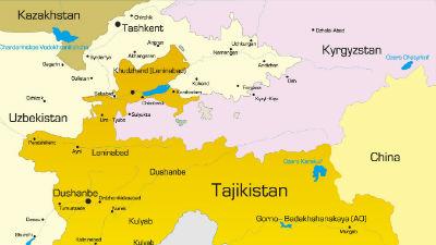 На границе Киргизии и Таджик…