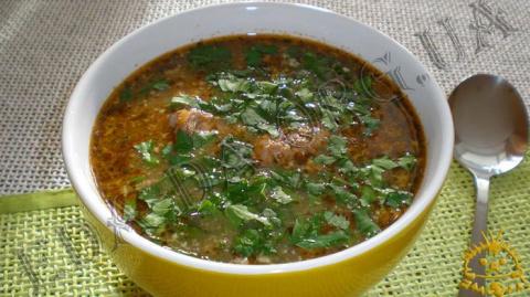 """Знаменитый острый суп """"Харчо"""" или как угодить мужу"""