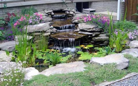 Пейзажный водопад и фонтан своими руками
