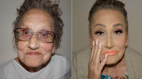 Гламурный макияж 80-летней б…