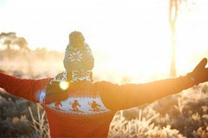 Зимнее солнце, загар зимой.