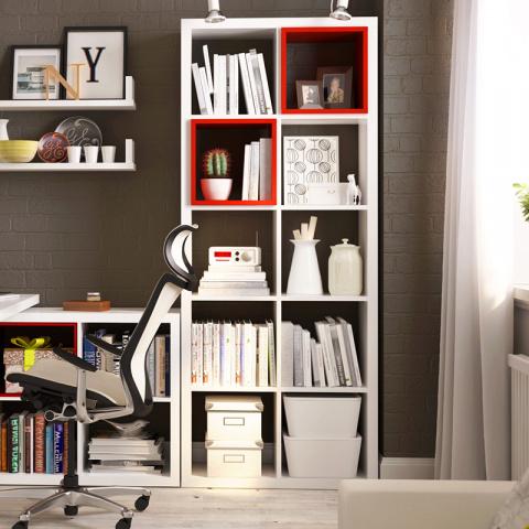 10 полок и держателей для книг в домашней библиотеке