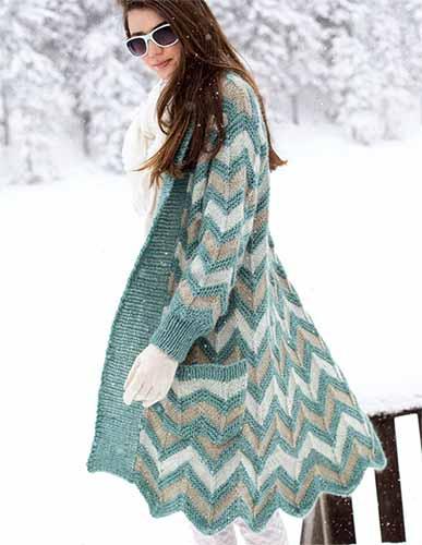 эффектное теплое пальто