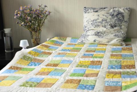 Шьём несложное лоскутное одеяло
