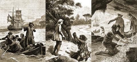 Где происходило действие романа «Остров сокровищ»