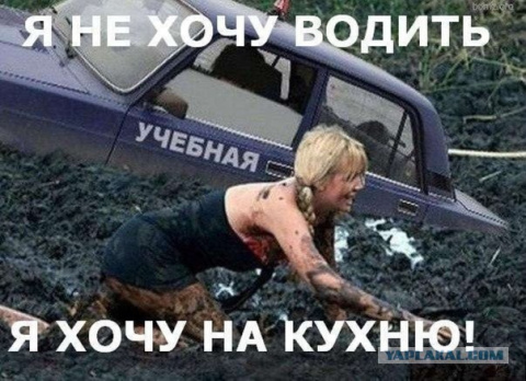 """Полная """"опупея"""" - жена  сдаёть на права"""