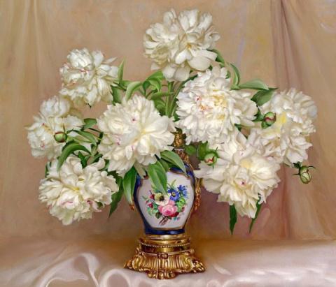 Нежные цветочные натюрморты художника Игоря Бузина