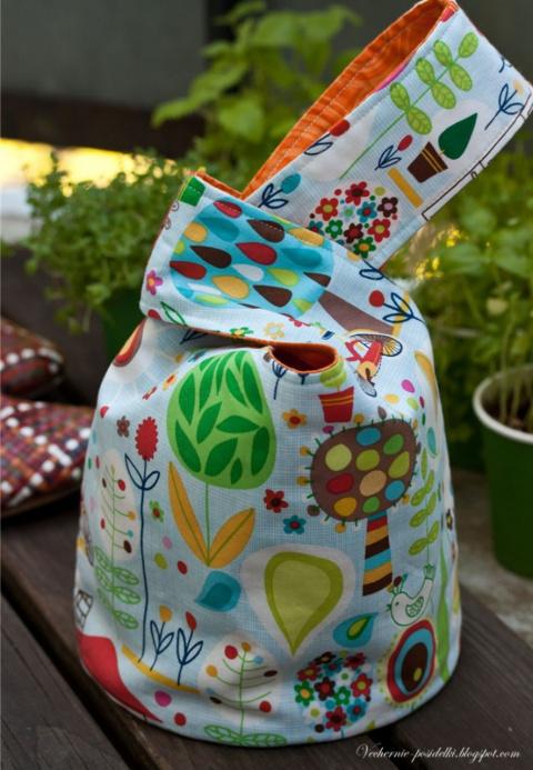 Сумочка японский узелок (Japanese knot bag). МК + идеи