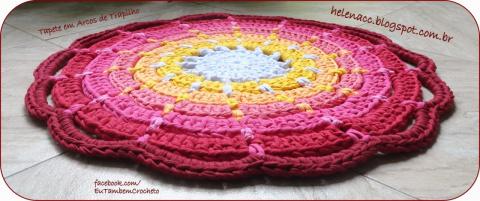 Очаровательный коврик крючком. Очень просто!