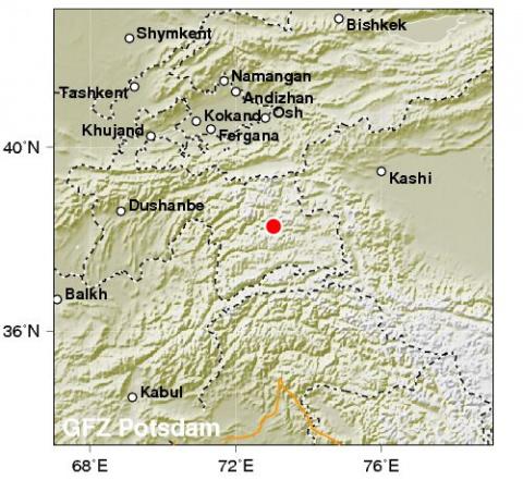 2 землетрясения в Таджикистане