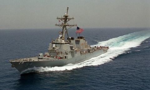 Американский эсминец незакон…