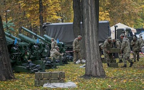 Артиллерия в парке: чья-то г…