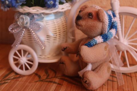 """""""Ехали медведи на велосипеде..."""" ( а также другие плюшевые мордашки). Бонусом кофейные игрушки. Много фоток"""