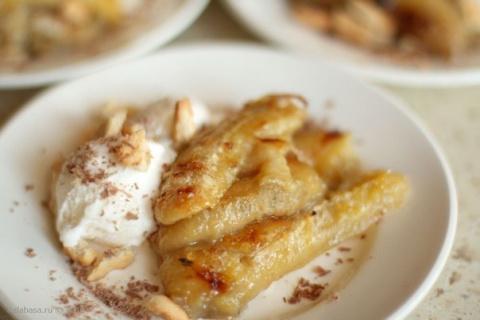 Десерт из запеченных бананов…