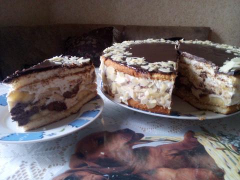 Торт с творожно-шоколадным кремом