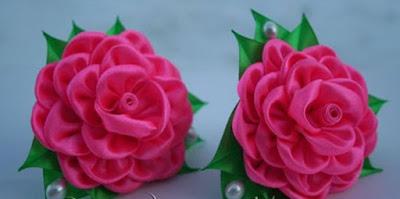 роза из атласных лент своими…