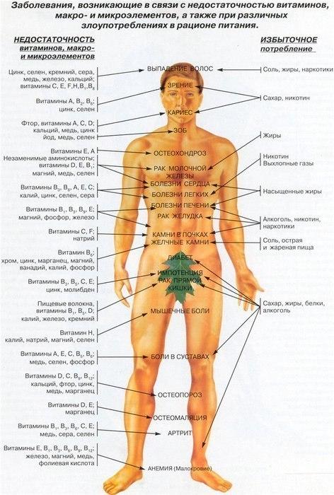 ЗДРАВОТДЕЛ. Болезни при нехватке витаминов