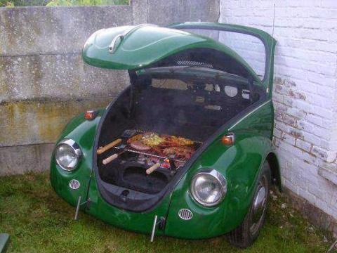 Мангал из старого автомобиля…