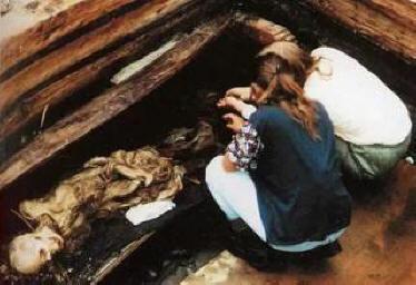 Археологи раскопали женщину …