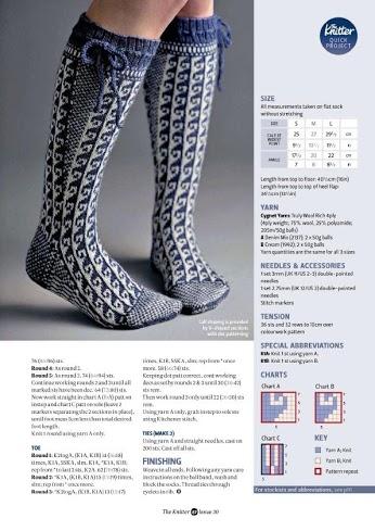Длинные носки спицами по схеме