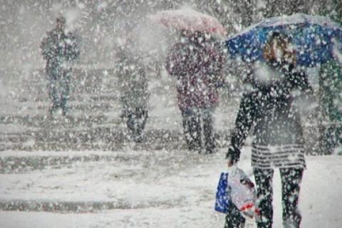 В Крыму пошел снег