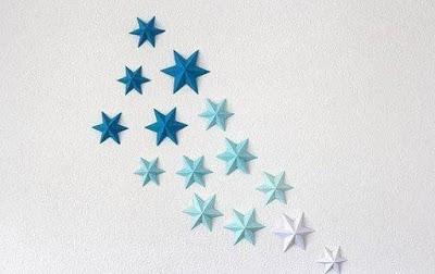 Объёмные звёзды для декора