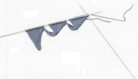 Вязание.Техника переплетения с изменением направления петель