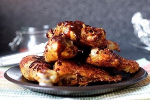 Запеченная курица под медовым соусом