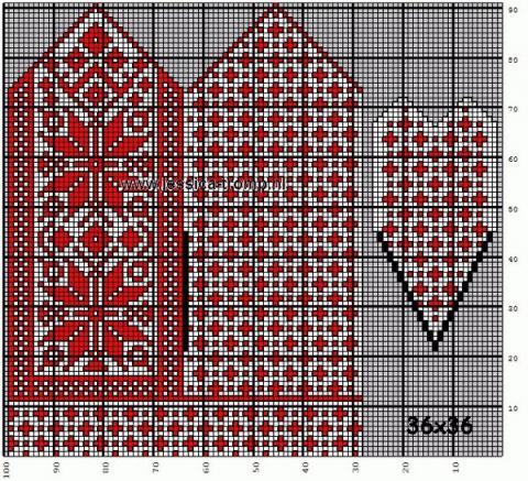 Орнаменты для варежек своими руками