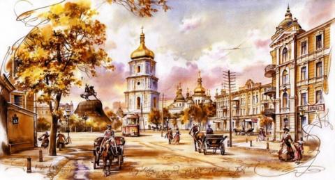 Городские акварельные пейзажи художника Сергея Брандта