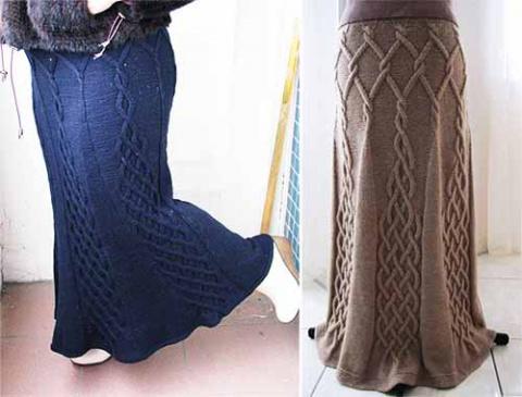юбка с вертикальными аранами