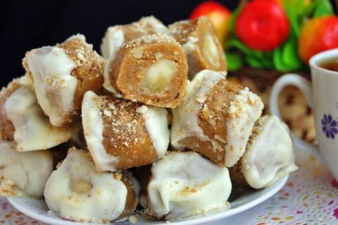 Конфеты с банановой начинкой
