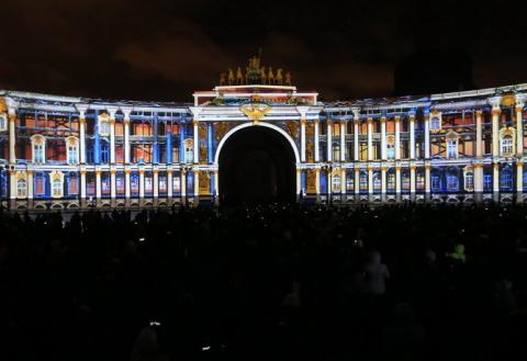 Фестиваль света в Петербурге…
