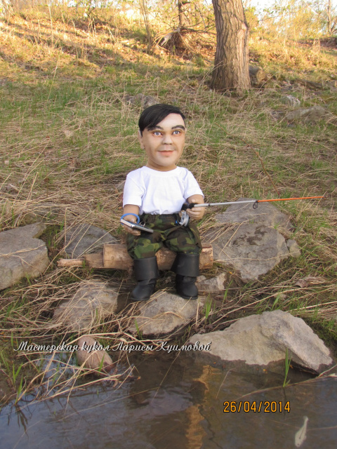 Рыбак Нариман (портретная кукла)