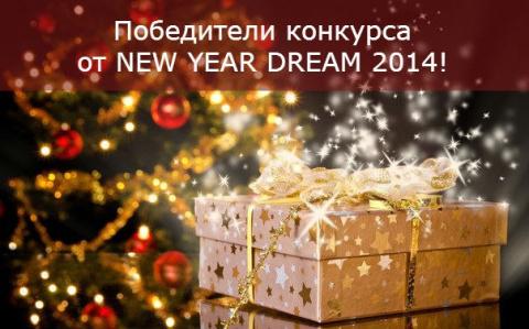 Победители конкурса от NEW YEAR DREAM 2014!