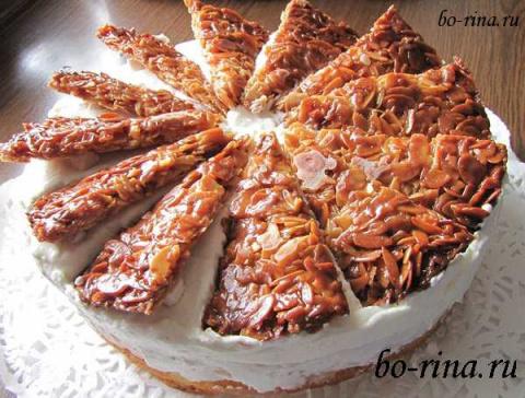Десертный вихрь. Пироги с яблоками.  Яблочный торт «Миндальный веер»