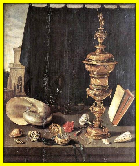 Натюрморт с высоким золотым кубком.1624г.