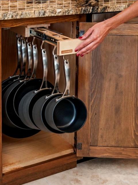 14 чертовски удобных способов сэкономить место на кухне