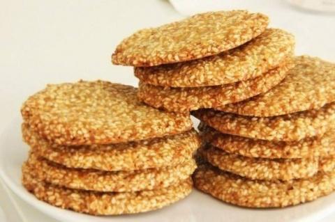 Хрустящее вкусное кунжутное печенье