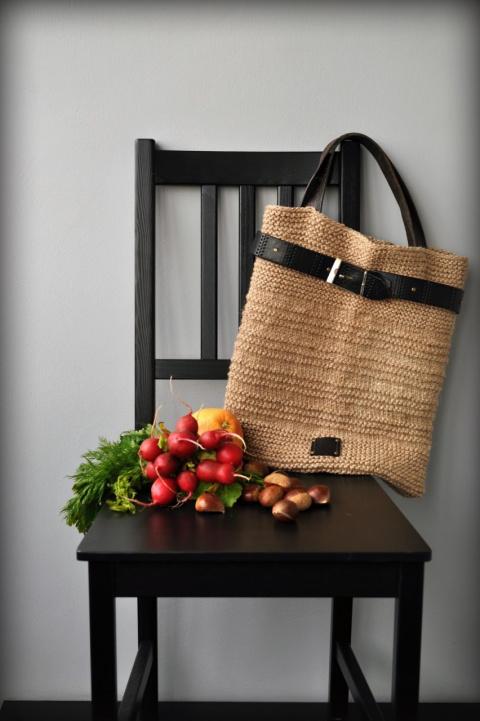 Хозяйственные сумки из шпагата, 2 варианта