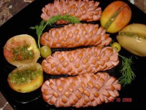Красивые блюда из обычных сосисок