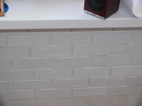 Кирпичная стена своими руками из штукатурки видео