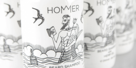 В Греции выпустили серию средств ухода за бородой, посвященную Гомеру