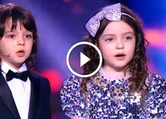 Трогательные кадры! Алла-Виктория и Мартин на юбилее у отца исполнили песню!